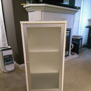 Modern Ikea style cabinet with glass doors
