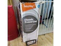 Baby Travel Cot and Mattress Like New Condition