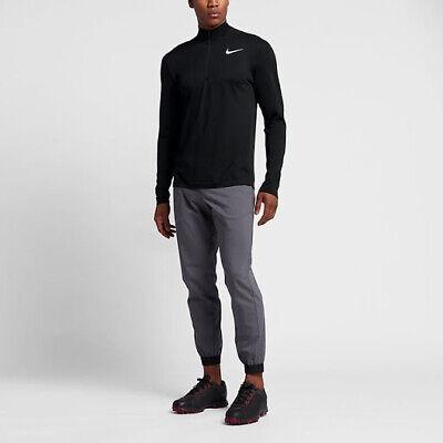Nike 1/2-Zip Golf Top Dri-FIT Black Size L XL 833280 010
