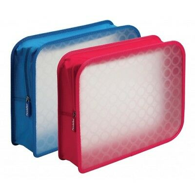 Pfx27909 Glw27909 Zip Wallet Poly Files  3 Inch Expansion  Red And Blue  6