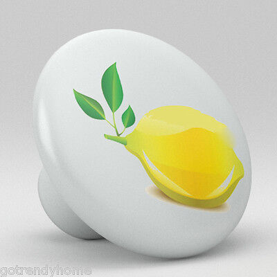 Yellow Lemon Ceramic Knobs Pulls Kitchen Drawer Cabinet Vanity Closet 410 Pantry ()