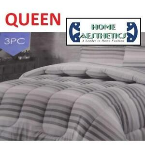 NEW 3PC COMFORTER SET QUEEN HA-1216Q 238991950 HOME AESTHETICS 100% POLYESTER BEDDING BEDROOM