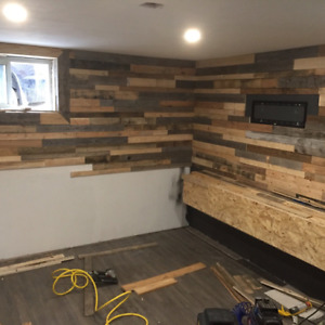 Pallet wood barn board reclaimed wood wall accent wall