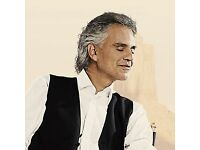 2 X Andrea Bocelli tickets Block C - £60 each