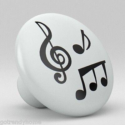 Music Notes Ceramic Knobs Pulls Kitchen Drawer Dresser Cabinet 969 Cupboard ()