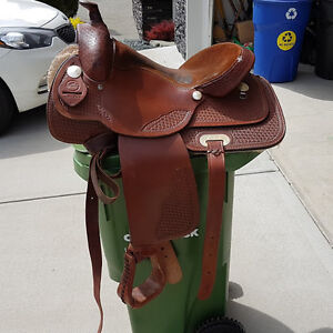 Silver Supreme Full Quarterhorse Western Saddle