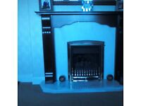 Mahoganey Fire Surround with marble hearth, will sell separately