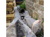 Cast iron rainwater pipe