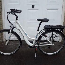 Dawes Electric Bike City Suburbia Model. Step Thru frame. Throttle and Pedelec power to 15mph