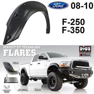 NEW*SMITTYBILT BOLT ON FENDER FLARE FITS MOST FORD F-250 F-350 MODELS, NO DUALLY - M1 PAINTABLE FENDERS BODY TRIM