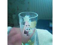 SPONGEBOB DRINKING GLASS
