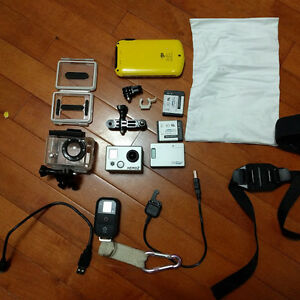 Gently Used GoPro Hero 2 Video Camera and accessories
