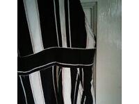 Ladies striped dungarees