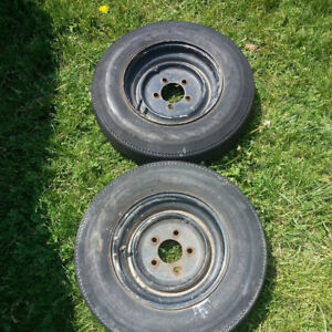 5 Bolt Trailer Rims and Tires