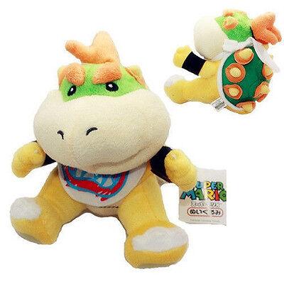 "New Super Mario Bros. Koopa Bowser Jr. Plush Toy Figure Soft Stuffed Animal 7"""