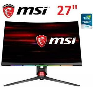 NEW MSI CURVED GAMING MONITOR 27 Optix MPG27CQ 249302265 FULL HD RGB Gaming LED Refresh Rate SteelSeries GameSense F...