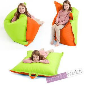 coussin fauteuil pouf si ge claboussure enfant orange. Black Bedroom Furniture Sets. Home Design Ideas