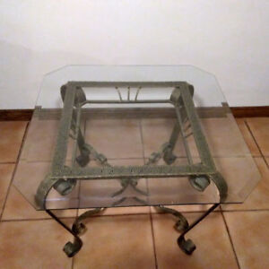Glass Table and End Table for Sale