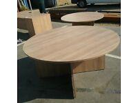 Large oak circular table