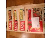 17 x Eagle Comic Vol 9 (1958) including Christmas Issue