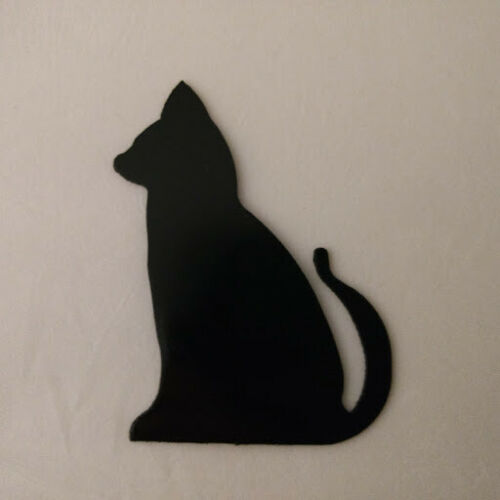 Cat Refrigerator magnet black silhouette Made in the USA