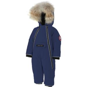 Blue Canada Goose Lamb Baby Snowsuit VGUC 12-18M