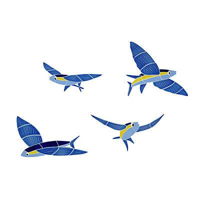 Flying Fish Ceramic Swimming Pool Mosaic