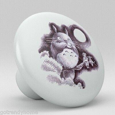 Totoro Ceramic Knobs Pulls Kitchen Drawer Cabinet Vanity Closet 542 Cupboard ()