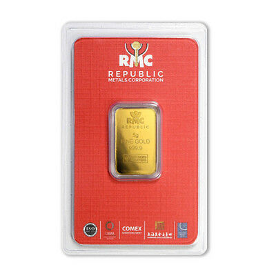 5 gram Gold Republic Metals Corp. (RMC) Bar