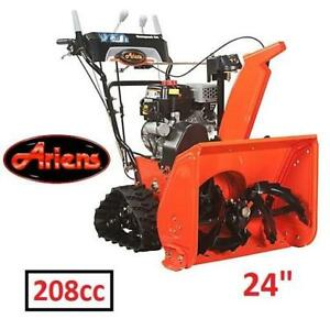 "NEW ARIENS TRACK SNOW THROWER 24"" 920022 146747410 ELECTRIC START 2-STAGE GAS SNOW BLOWER 208cc SNOWTHROWER"