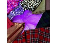 FABRIC/MATERIAL BUNDLE - 4 black bags FULL - all lengths & styles for fashion designers/dress makers