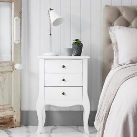 SELLING 2 x Camille 3 Drawer Side Table BRAND NEW