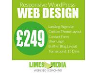 WordPress website from £299. WordPress Development, WooCommerce, SEO, Online Marketing & Training