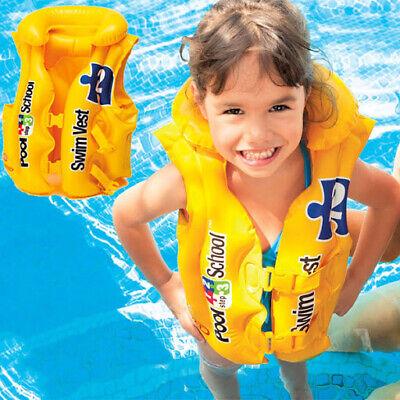 NEW Kids Boys Girls Life Jackets Swimming Floating Swim Zip Vest Buoyancy Aid UK