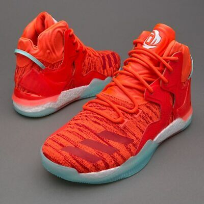 Adidas D Rose 7 PK Derrick Primeknit Red White Basketball Shoes 13 Mens AQ7743