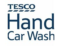 Tesco Hand car wash staff wanted