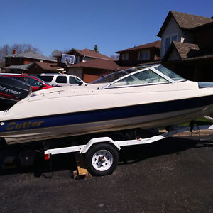 1997 Cutter Bowrider with Johnson 60HP OB