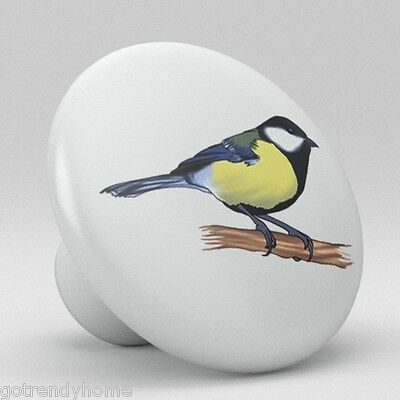 Bird Ceramic Knobs Pulls Kitchen Drawer Dresser Cabinet 1144 Pantry Pottery ()