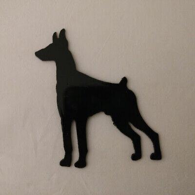 Doberman Pinscher Refrigerator magnet black silhouette Made in the USA