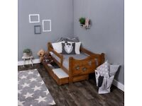NOW CHEAPER!!! Kids Toddler Bed in oak colour - free delivery