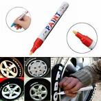 5 Stks Rode Kleur Tyre Permanente Verf Pen Tyre Metal Out...