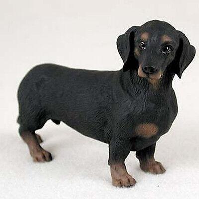 DACHSHUND (BLACK TAN) DOG Figurine Statue Hand Painted Resin Gift Pet Lovers Tan