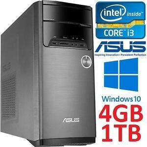 REFURB ASUS DESKTOP PC I3 4GB 1TB - 108868594 - INTEL CORE i3 4160 4GB RAM 1TB HDD WIN10 W/ KEYBOARD  MOUSE - COMPUTERS