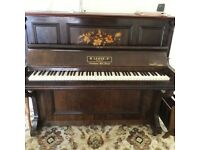 Piano - upright, German, overstrung from grand,