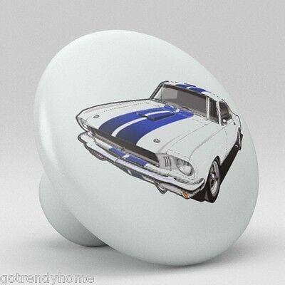 Ford Mustang Ceramic Knobs Pulls Kitchen Drawer Dresser Cabinet 1151 Vanity ()