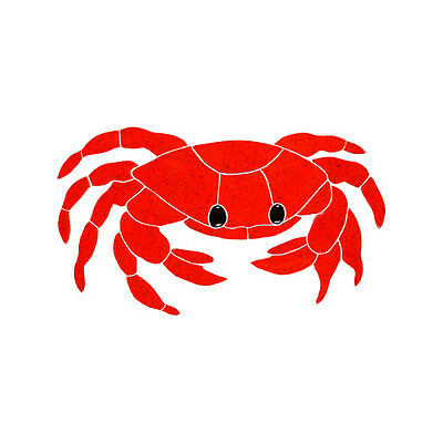 Red Crab Ceramic Swimming Pool Mosaic