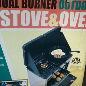 TRAILWOOD DUAL BURNER OUTDOOR CAMP OVEN & STOVE
