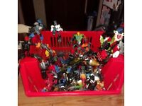 Bionicles - A box of 7 whole bionicles plus loads of spare parts for £14