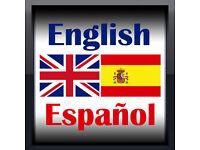 Language swap - English for Spanish