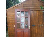 External part glazed solid wooden door